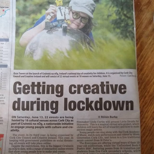 Lovely photo by @clareflash in the @echonewspaper today about this year's Cruinniú na nÓg! See our website for full details of our events!